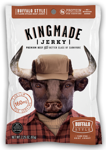 Crusher Club - Buffalo Style - 6 Pack - Kingmade Jerky  - 1