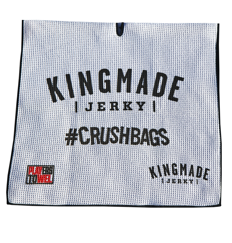 Kingmade Jerky Players Towel - #Crushbags - Kingmade Jerky  - 1