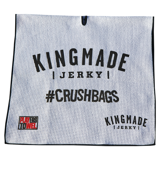 Kingmade Jerky Players Towel - #Crushbags
