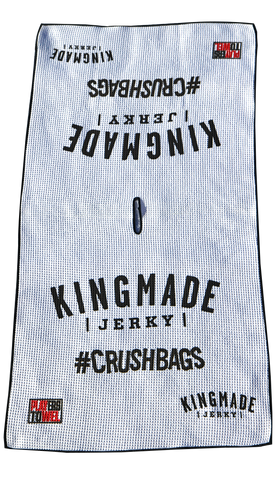 Kingmade Jerky Players Towel - #Crushbags - Kingmade Jerky  - 2