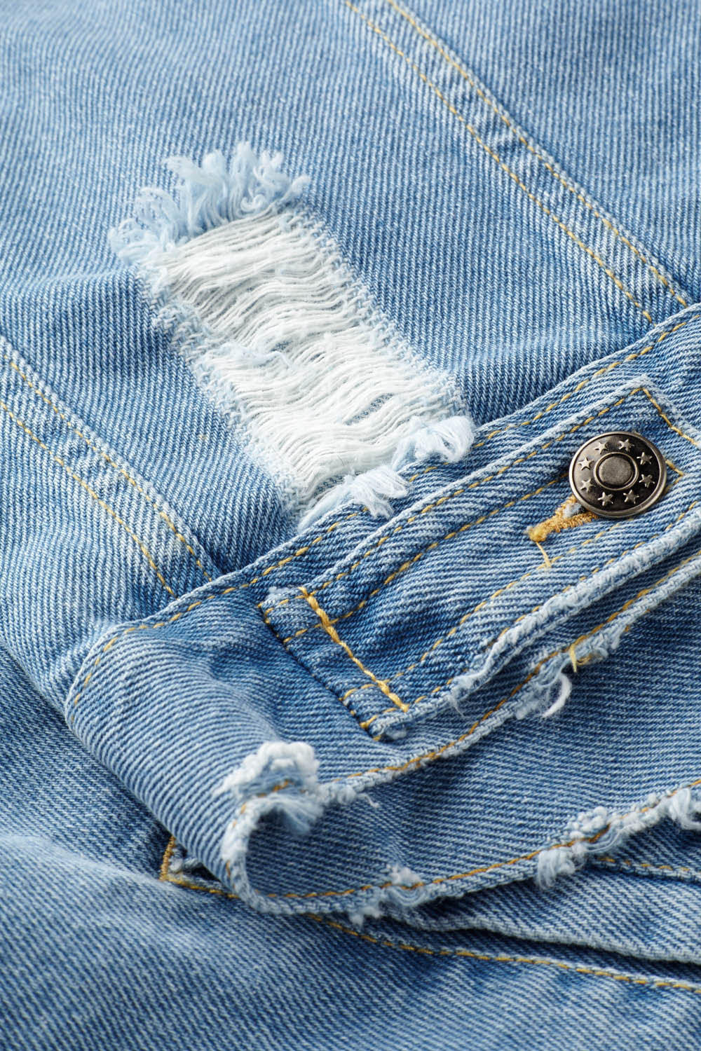 Distressed Denim Jacket - Light