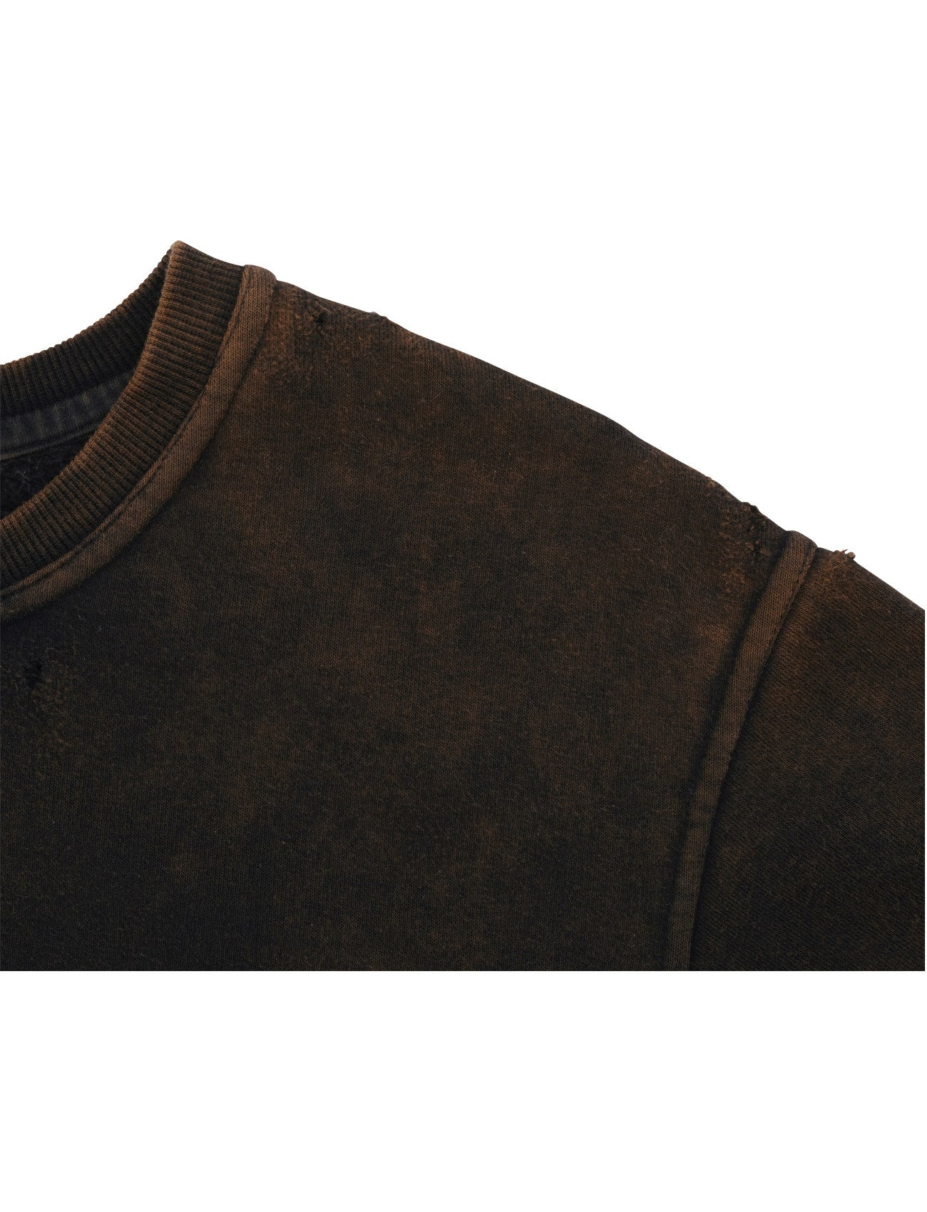 Distressed Crewneck - Rust