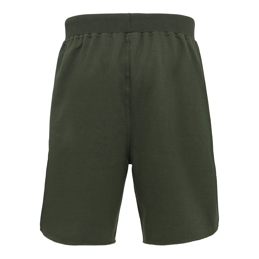 Olive Taped Logo Shorts