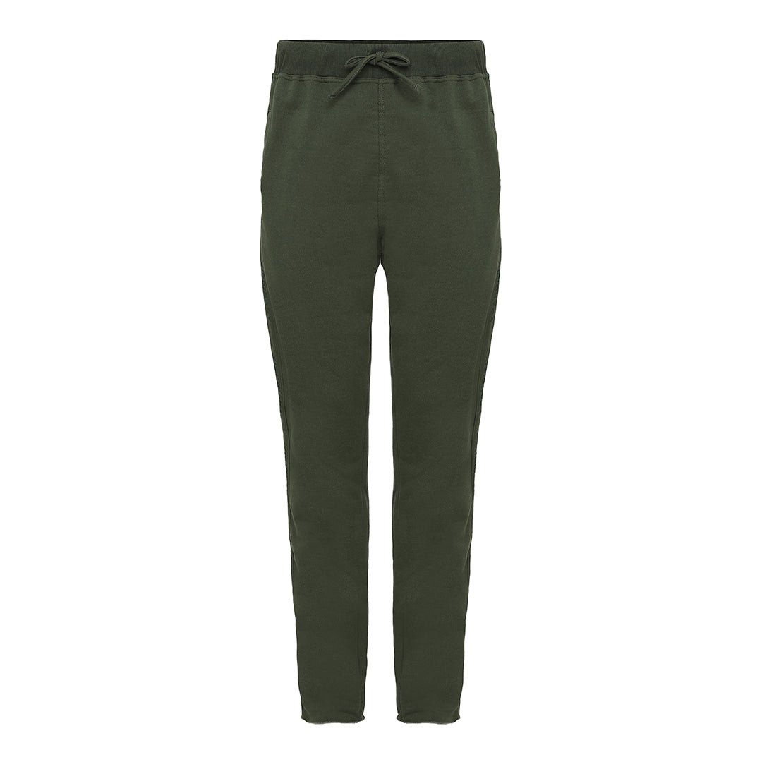 Olive Taped Logo Pants