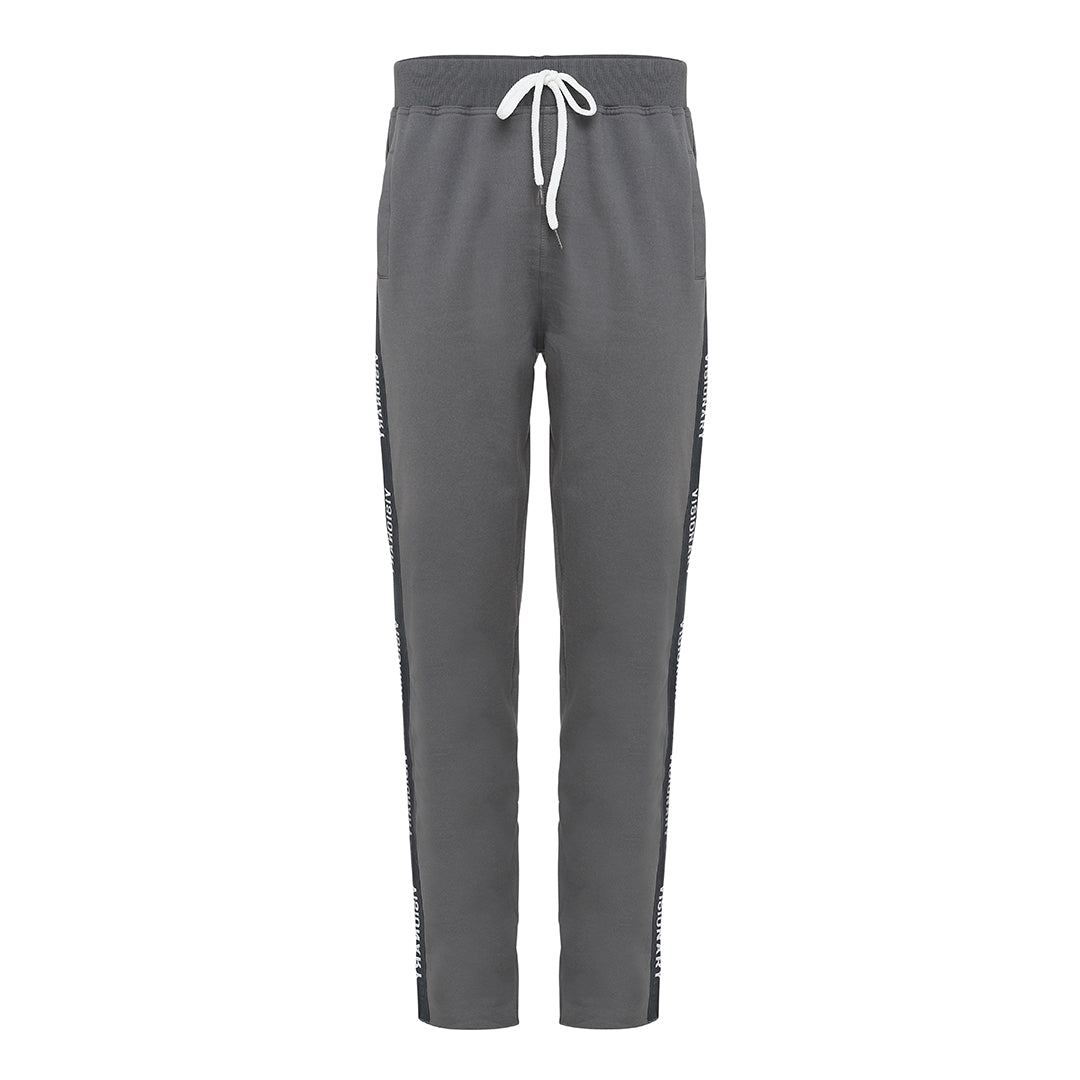 Wolf Grey Taped Logo Pants