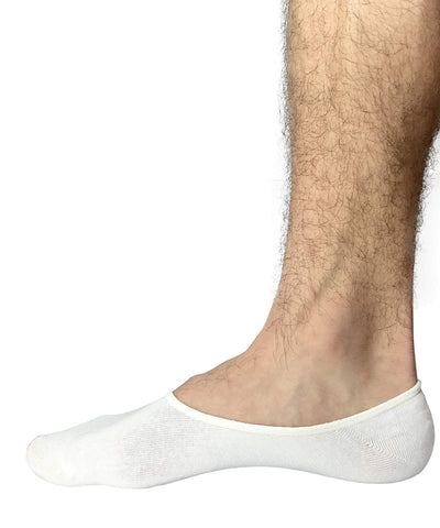 No Show Socks For Men By Stomper Joe, 3 Pack, Quality Cotton, Lge Silicon Heel Grip