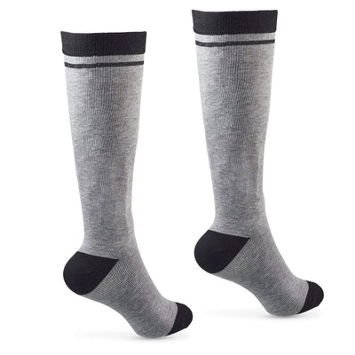 Compression Support Socks 15-20 mmhg Soft Cotton 2 Pairs for Men Women Nurses Travel Maternity & Edema