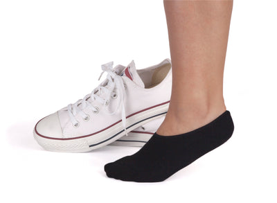 Black sneaker socks for women