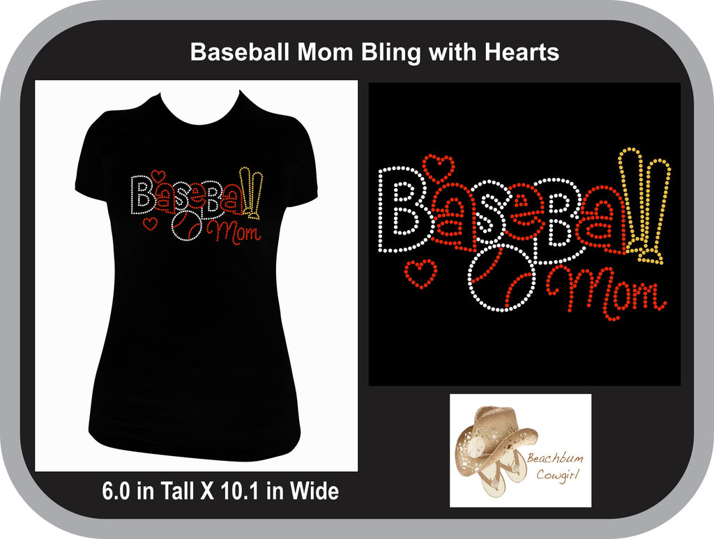 Baseball Mom with heart and Bling