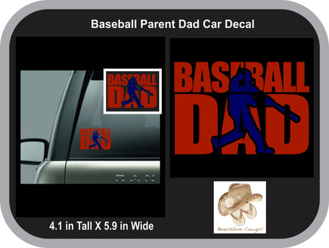 Car Decal - Baseball Dad (Batter Knock Out)
