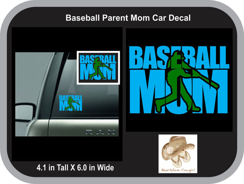 Car Decal - Baseball Mom (Batter Knock Out)