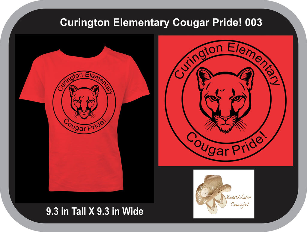 Curington Cougar Pride YOUTH - Black