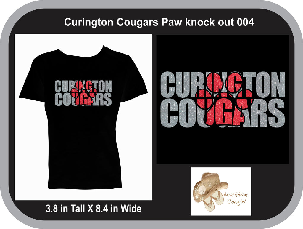 Curington Cougars Knockout Paw Print 004