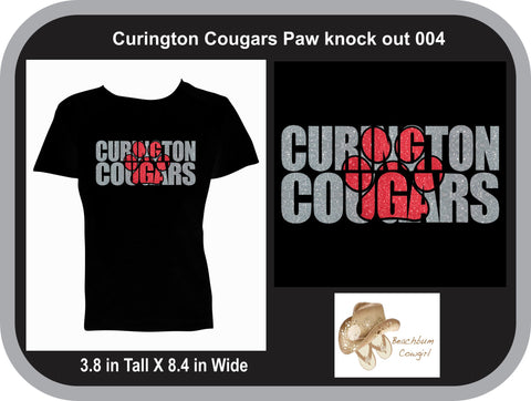 Curington Cougars Knockout Paw Print 004 - ADULT