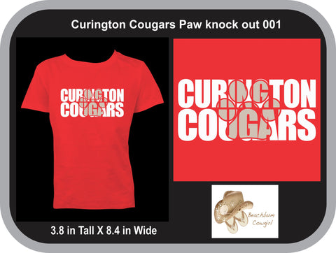 Curington Cougars Knockout Paw Print 001