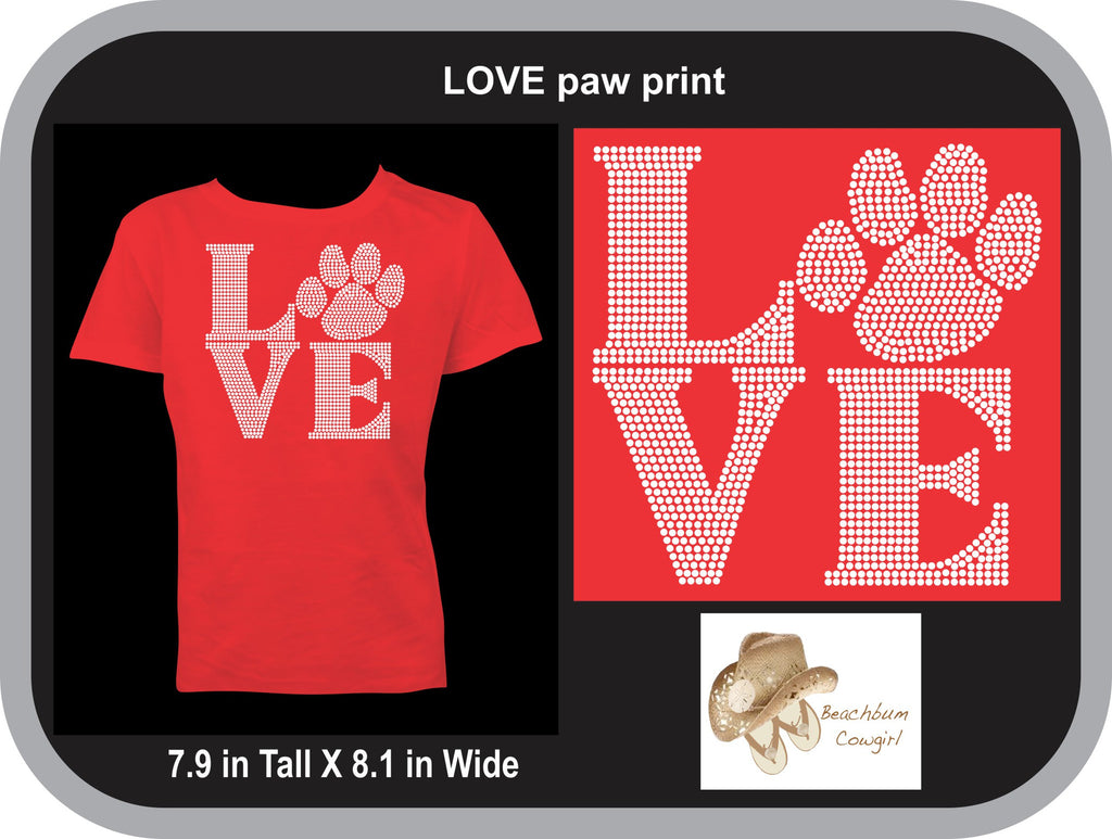 Love with Paw Print - ADULT