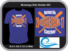 Mustangs Elite Baseball Shatter 003