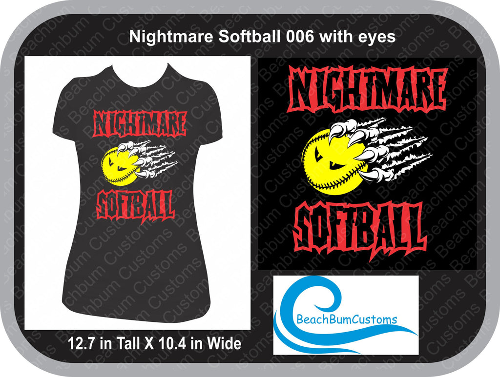 Nightmare Softball 006 with Eyes - Customized