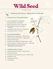 Table of Contents of Wild Seed, Volume 4, the magazine of Wild Seed Project