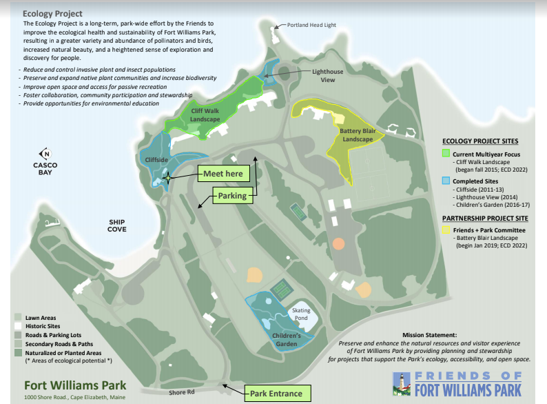 Fort Williams Park Cliff Trail – Restoring the Ecology of a Park