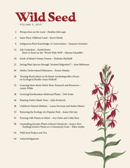 Wild Seed Magazine Volume 5 table of contents