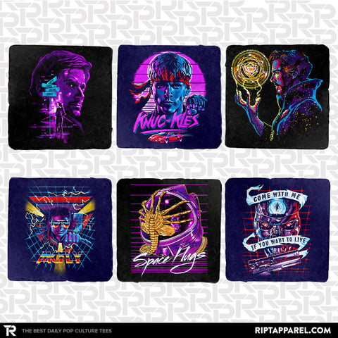 Electric 80s 6-Coaster Set - Electric 80s
