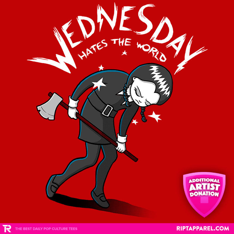 Wednesday Hates The World - Collection Image - RIPT Apparel
