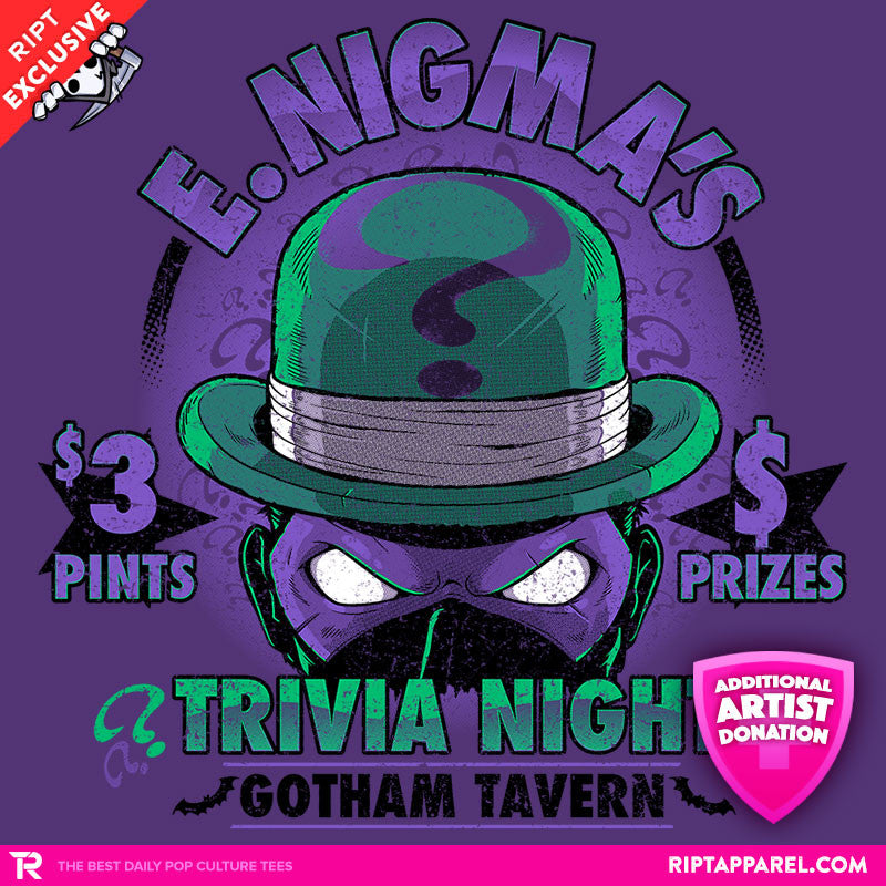 E. Nigma's Trivia Night - Collection Image - RIPT Apparel