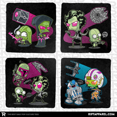 Zim Wars 4-Coaster Set