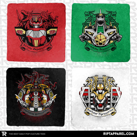 Mighty Latin Zords 4-Coaster Set