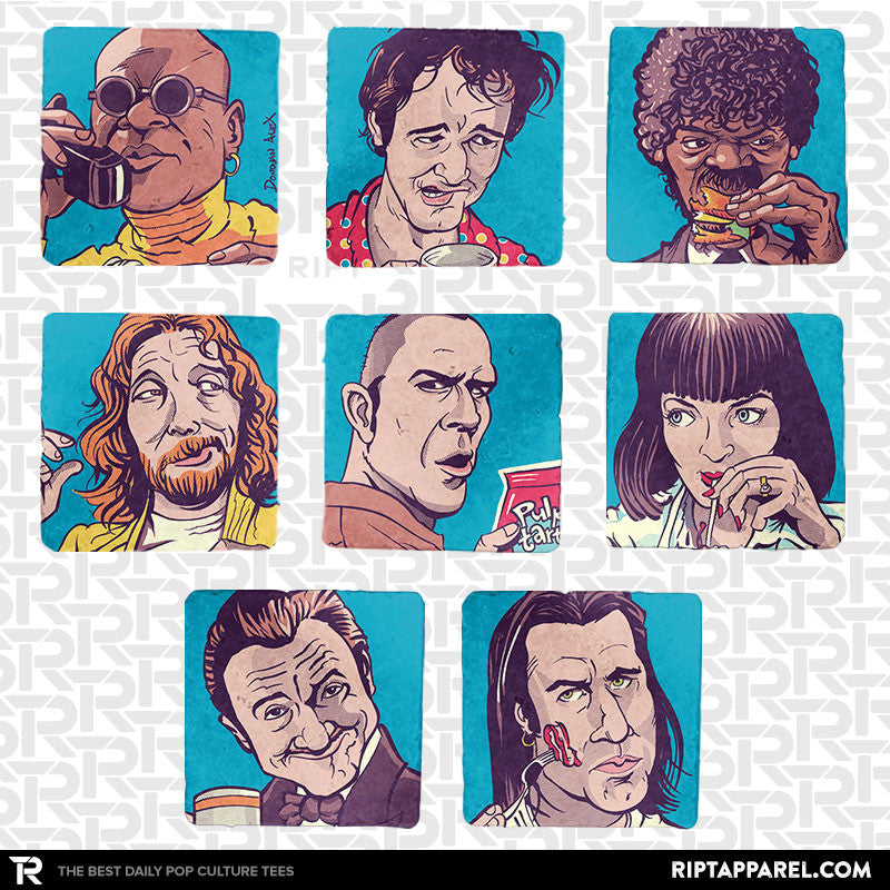 The Pulpy Bunch 8-Coaster Set - Summer Blockbuster - RIPT Apparel