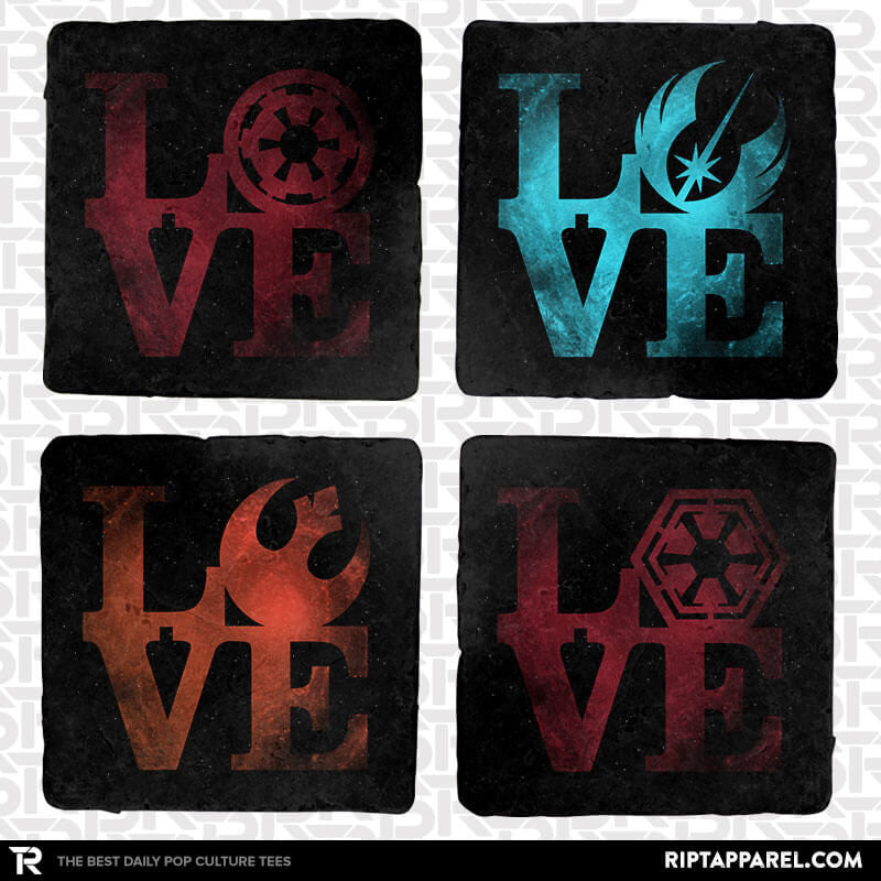 Logo Wars 4-Coaster Set - Uprising - RIPT Apparel