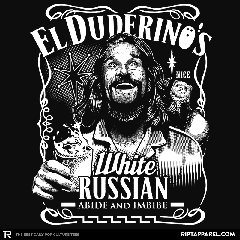 El Duderino White Russian Reprint - Collection Image - RIPT Apparel