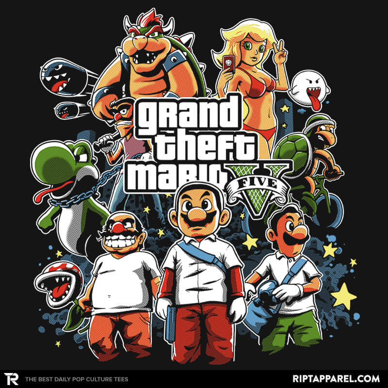 Grand Theft Mario Reprint - RIPT Apparel