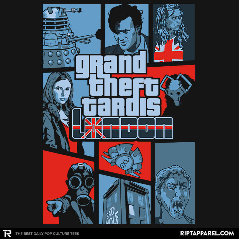 Grand Theft Tardis London Reprint - RIPT Apparel