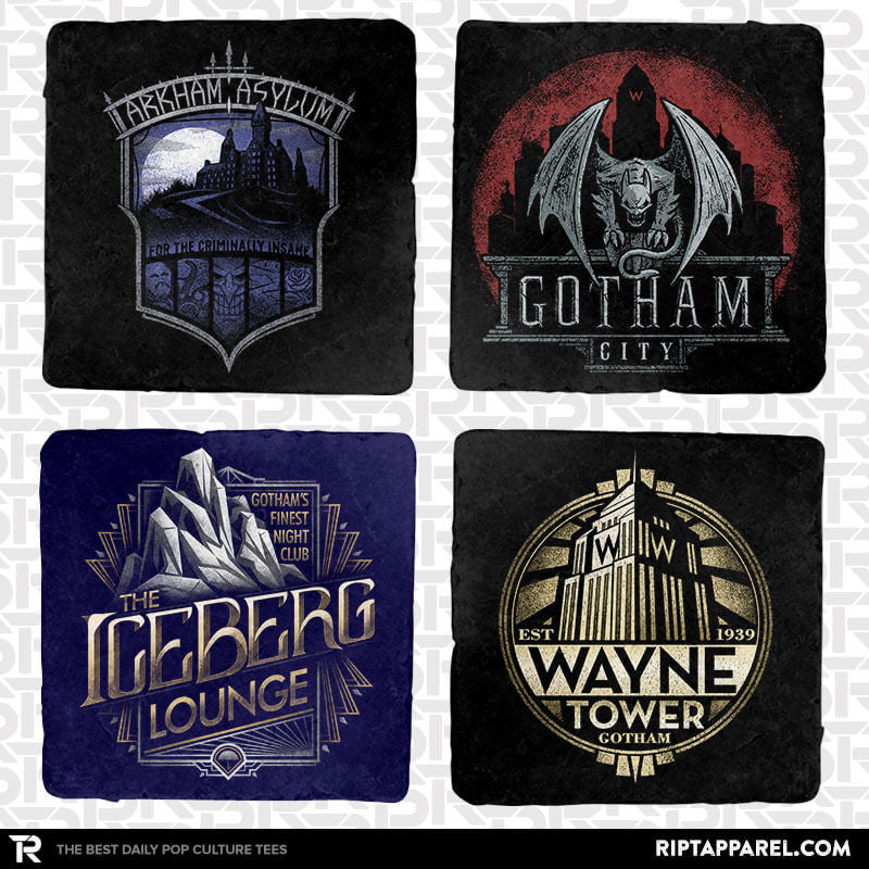 Goth City 4-Coaster Set - Crestfest - Collection Image - RIPT Apparel