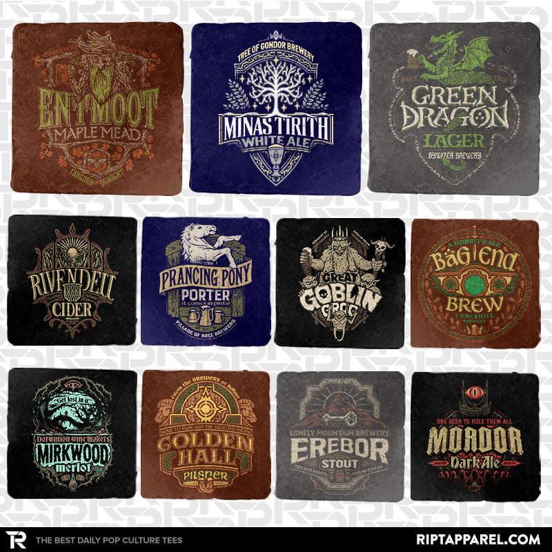 Middle Earth Brewery Tour 11-Coaster Set - Crestfest - Collection Image - RIPT Apparel