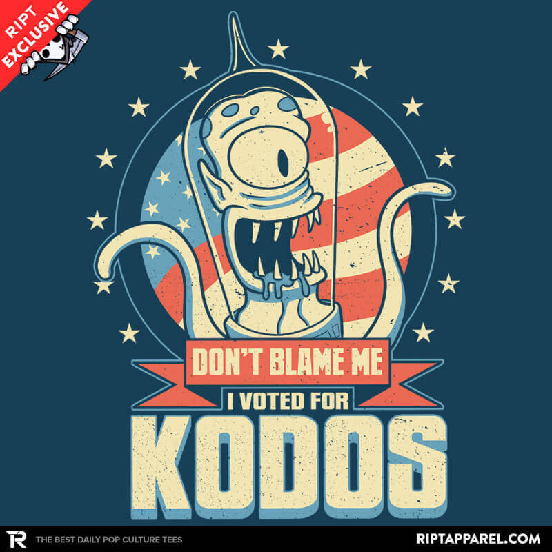 I Voted for Kodos Exclusive - Collection Image - RIPT Apparel