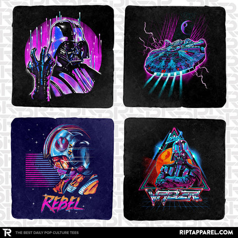 Electric Force 4-Coaster Set - Electric 80s