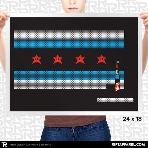Chicago Mario Bricks Flag