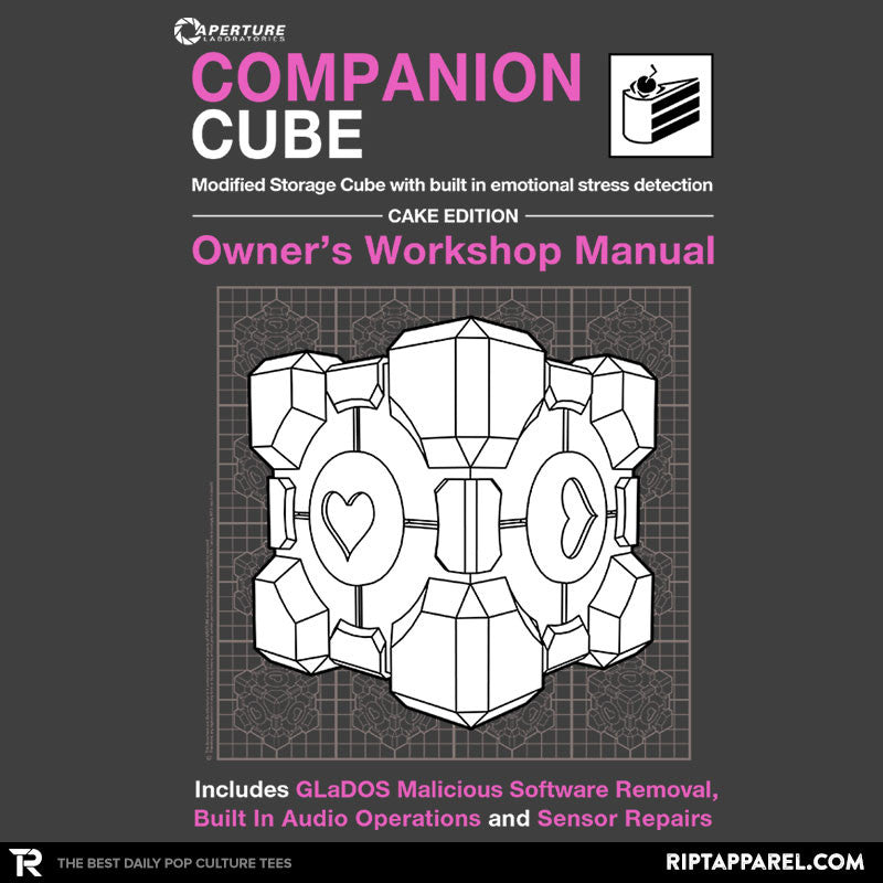 Companion Cube Manual - Collection Image - RIPT Apparel