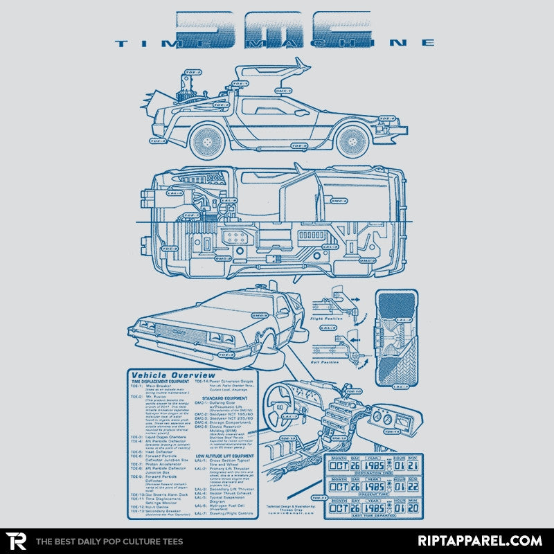 Time Machine Technical Blueprint - Collection Image - RIPT Apparel