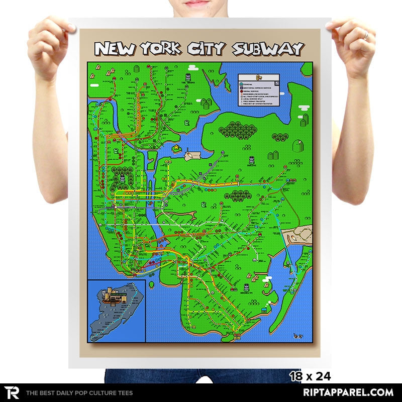 New York City Subway Pixel Map - Collection Image - RIPT Apparel