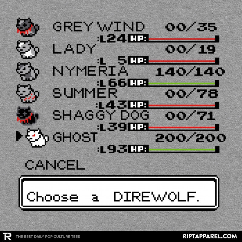 Choose a Direwolf VII - Collection Image - RIPT Apparel