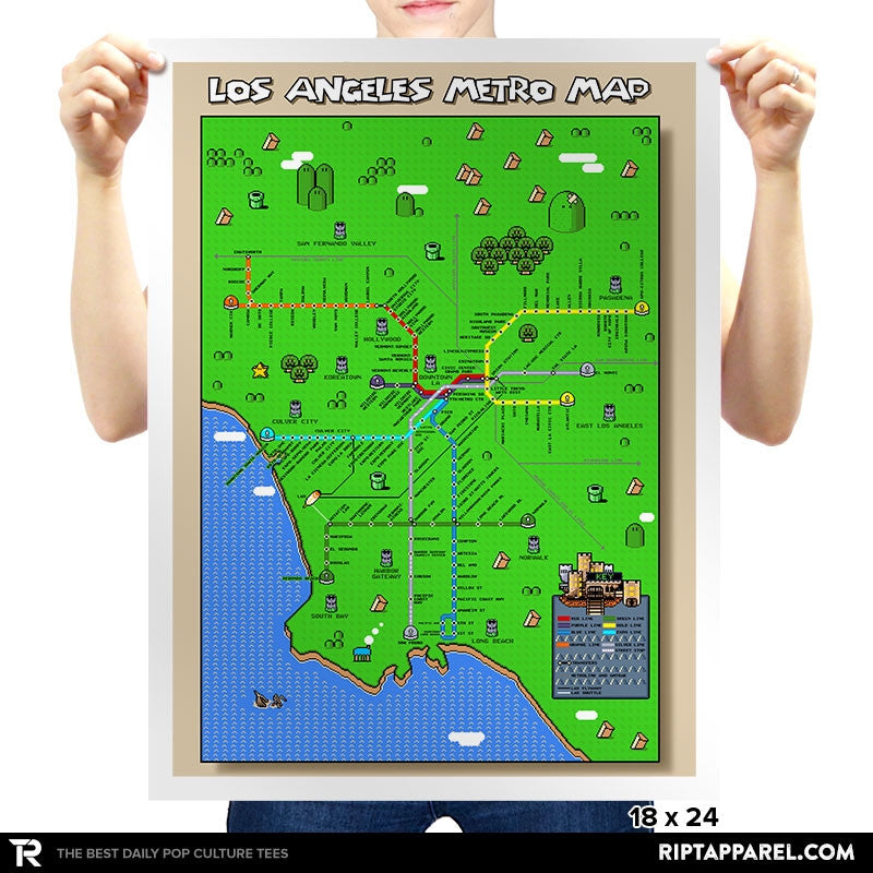 Los Angeles Pixel Map - RIPT Apparel