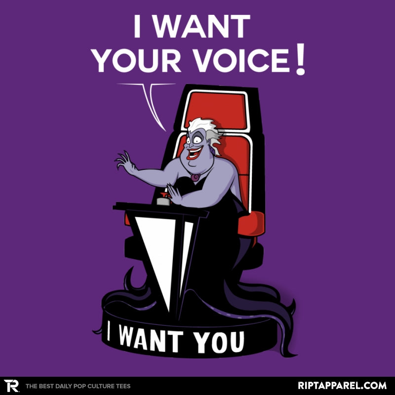 I Want Your Voice Now! - Raffitees - RIPT Apparel