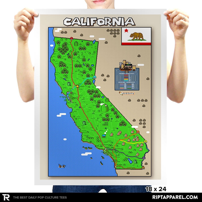 California State Pixel Map - RIPT Apparel