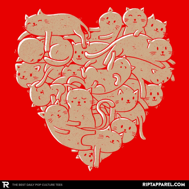 I Love Cats Heart - RIPT Apparel