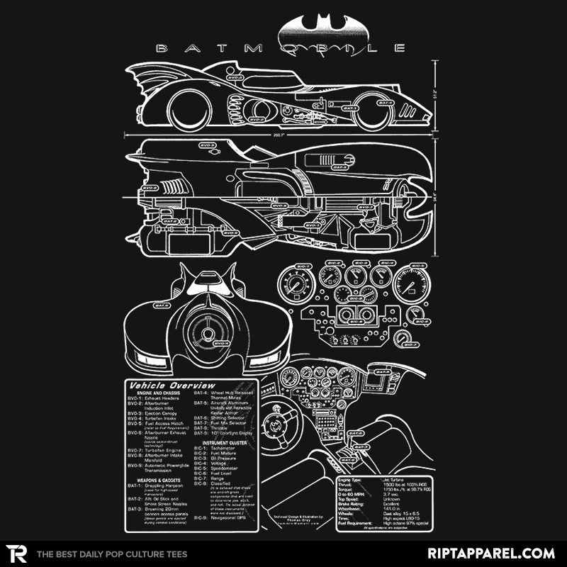 1980s Mobile Technical Blueprint - RIPT Apparel