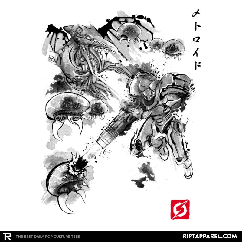 Attack of the Space Pirates Sumi-e - Sumi Ink Wars - Collection Image - RIPT Apparel